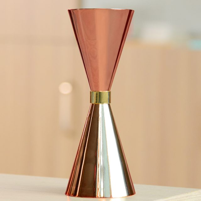 Copper Plated Cocktail Jigger