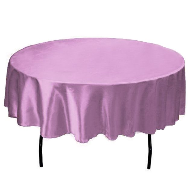 Romantic Decorative Round Silky Satin Tablecloth