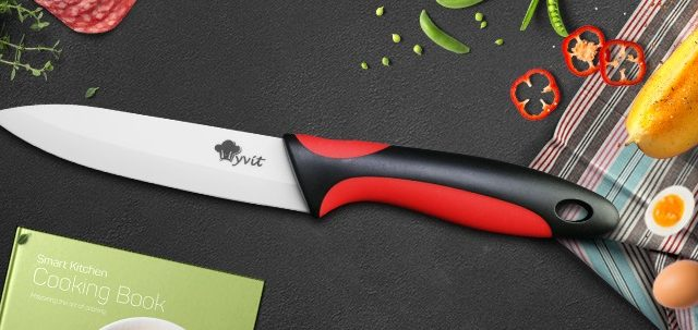 Colorful Ceramic Kitchen Knives and Peeler Set